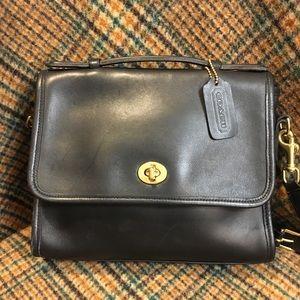 Coach Vintage Black Court Bag